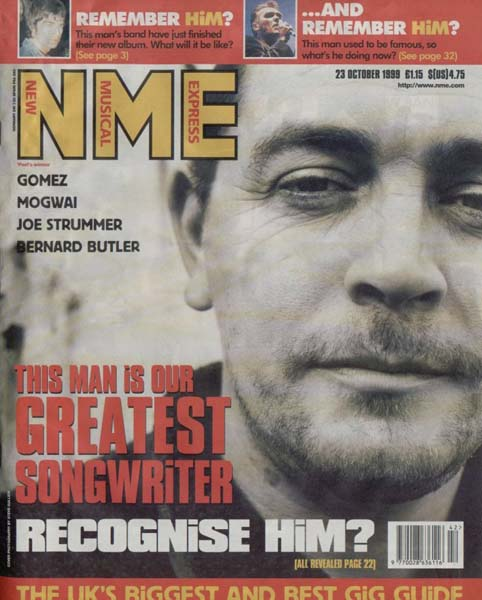 nme front cover. Mick Head Nme Front Cover 1999